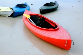 kayak at the beach