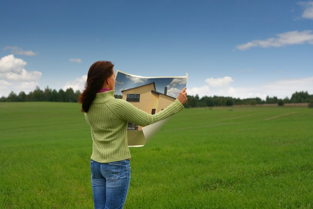 woman dreaming of new home
